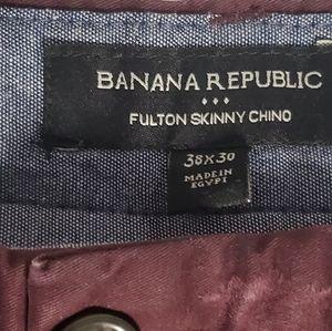 BANANA REPUBLIC Fulton Skinny Chino Mens 38 x 30